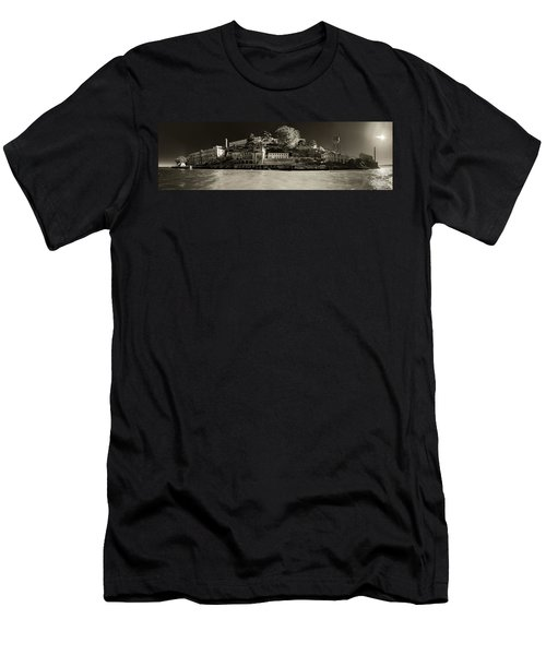 Panorama Alcatraz Up Close Men's T-Shirt (Athletic Fit)