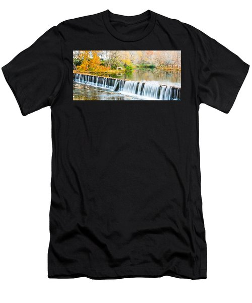 Panorama Of Buck Creek In Autumn Men's T-Shirt (Athletic Fit)
