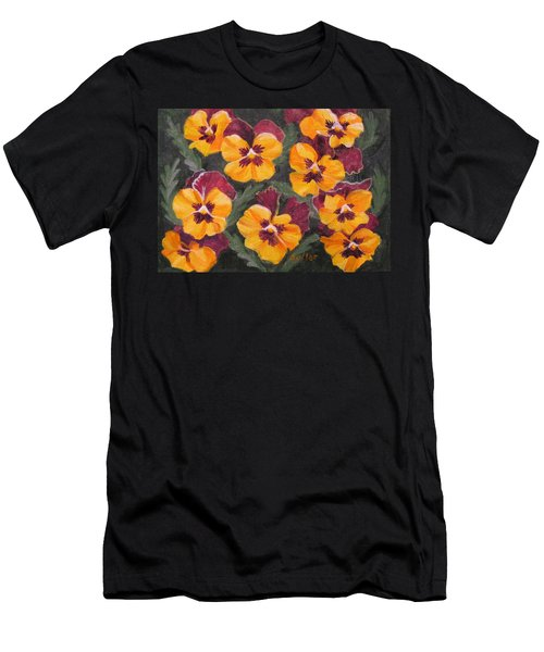 Pansies Are For Thoughts Men's T-Shirt (Athletic Fit)