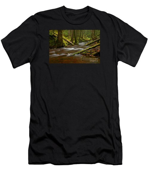 Men's T-Shirt (Slim Fit) featuring the photograph Panther Creek Landscape by Nick  Boren