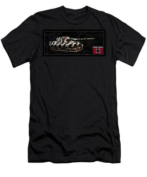 Panzer Tiger II Side Bk Bg Men's T-Shirt (Athletic Fit)