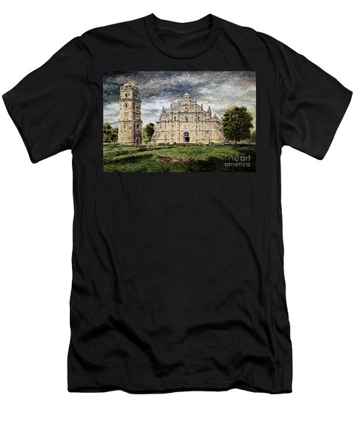 Paoay Church Men's T-Shirt (Athletic Fit)