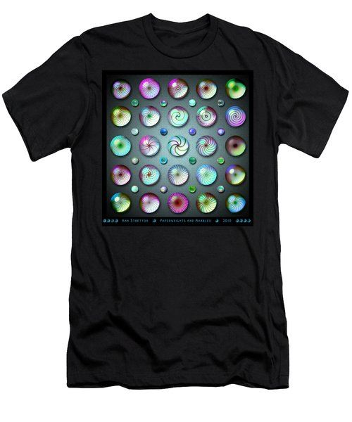 Paperweights And Marbles Men's T-Shirt (Athletic Fit)