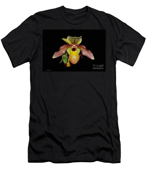 Men's T-Shirt (Slim Fit) featuring the photograph Paphiopedilum 'summer Ice' Orchid by Susan Wiedmann
