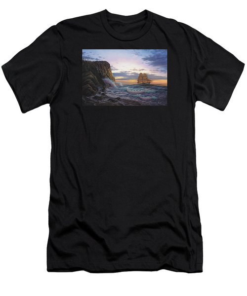 Paradise Cove And The Lightning  Men's T-Shirt (Athletic Fit)