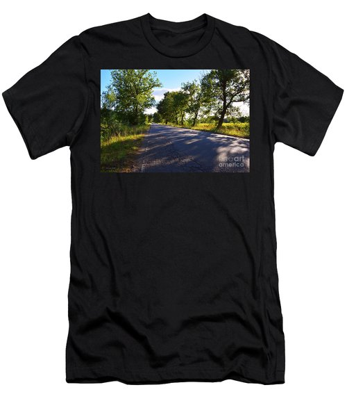 Men's T-Shirt (Slim Fit) featuring the photograph Paradise Road by Ramona Matei
