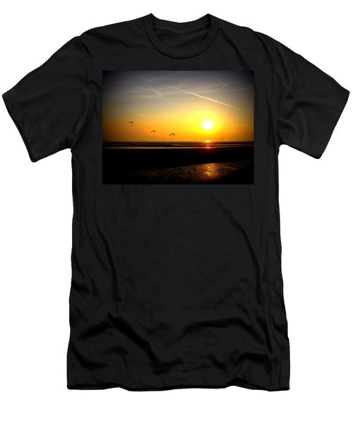 Paragliders At Sunset Men's T-Shirt (Athletic Fit)