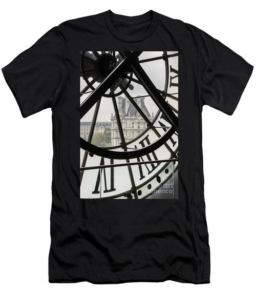 Men's T-Shirt (Athletic Fit) featuring the photograph Paris Clock by Brian Jannsen