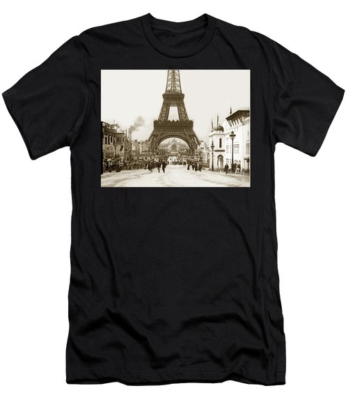 Paris Exposition Eiffel Tower Paris France 1900  Historical Photos Men's T-Shirt (Athletic Fit)