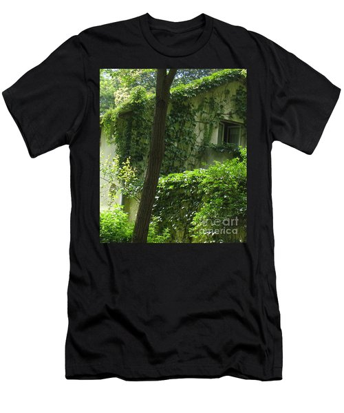 Paris - Green House Men's T-Shirt (Athletic Fit)
