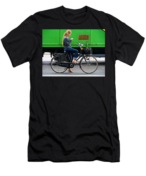 Men's T-Shirt (Slim Fit) featuring the photograph Paris Interlude by Ira Shander