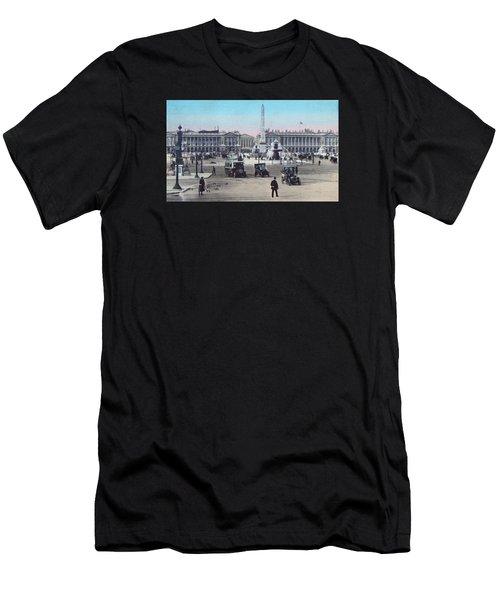 Paris Place De La Concorde 1910 Men's T-Shirt (Athletic Fit)