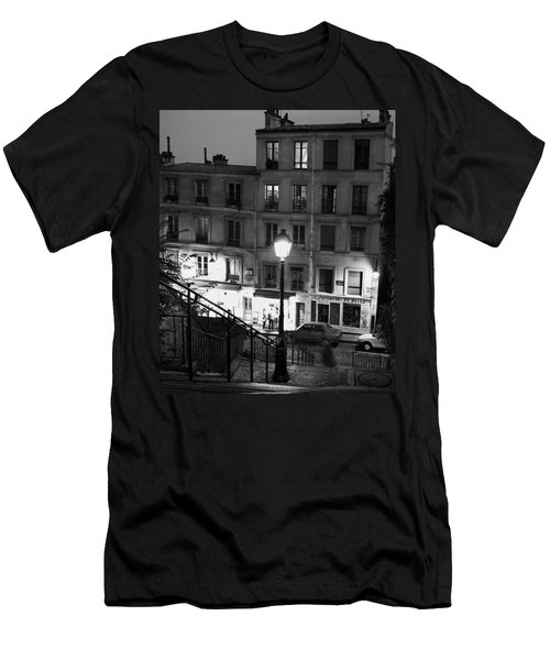 Paris-steps-montmartre Men's T-Shirt (Athletic Fit)