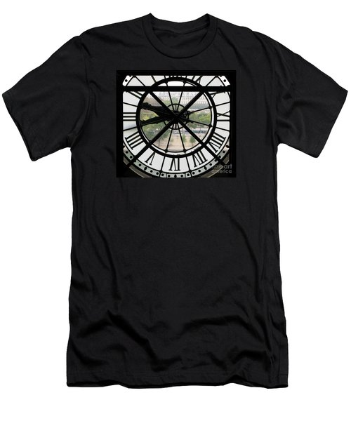 Men's T-Shirt (Slim Fit) featuring the photograph Paris Time by Ann Horn