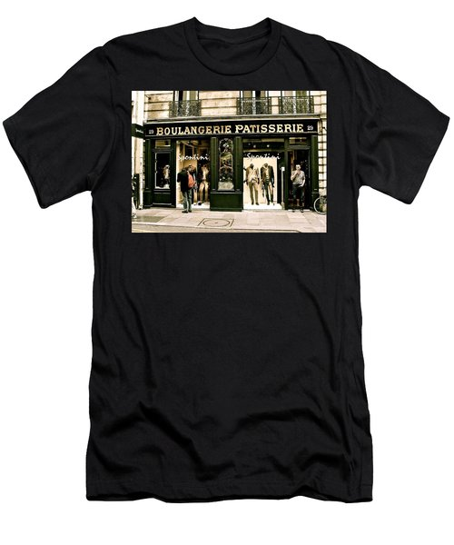 Men's T-Shirt (Slim Fit) featuring the photograph Paris Waiting by Ira Shander