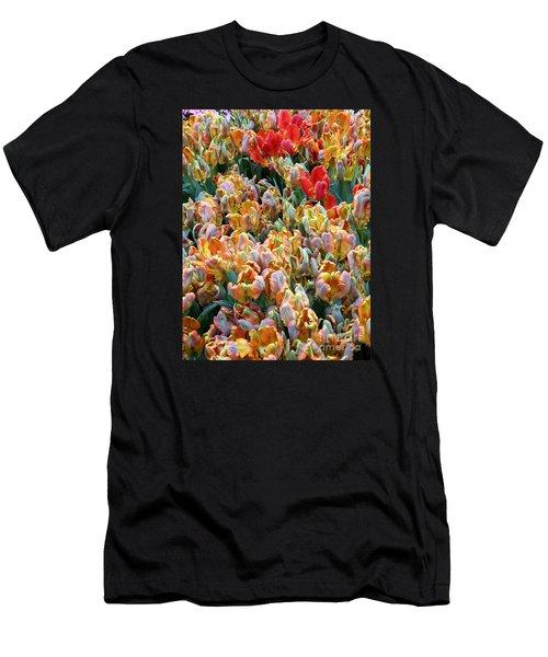 Parrot Tulips Men's T-Shirt (Athletic Fit)