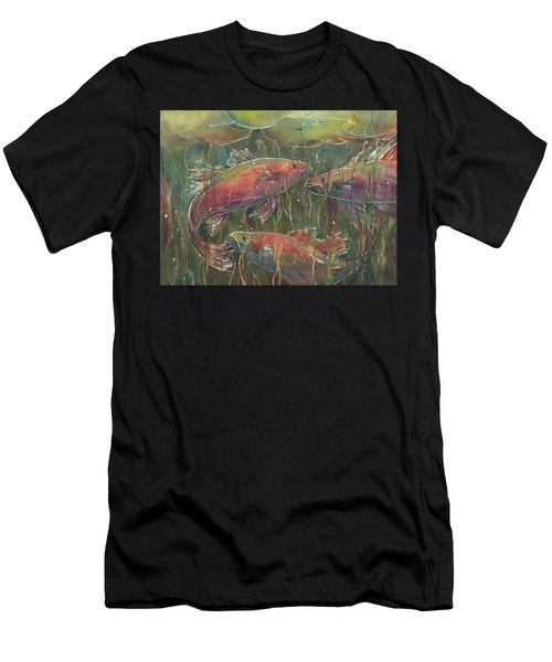 Party Under The Lily Pads Men's T-Shirt (Athletic Fit)