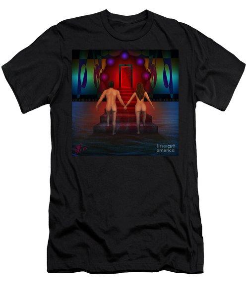 Men's T-Shirt (Slim Fit) featuring the digital art Passion Ascending by Rosa Cobos