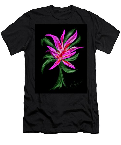 Men's T-Shirt (Slim Fit) featuring the digital art Passion Flower by Christine Fournier