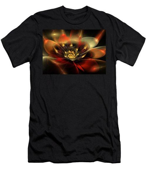 Men's T-Shirt (Slim Fit) featuring the digital art Passion by Svetlana Nikolova