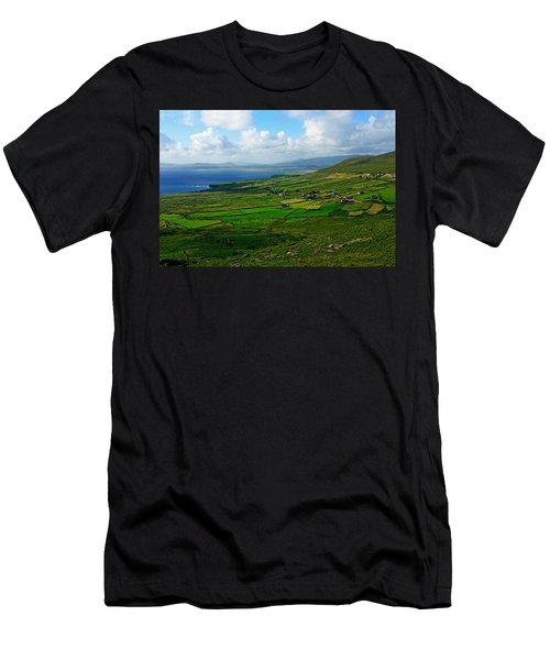 Patchwork Landscape Men's T-Shirt (Slim Fit) by Aidan Moran