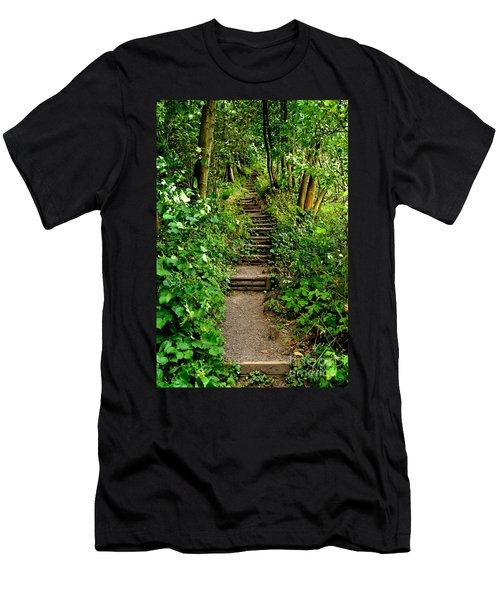 Path Into The Forest Men's T-Shirt (Athletic Fit)