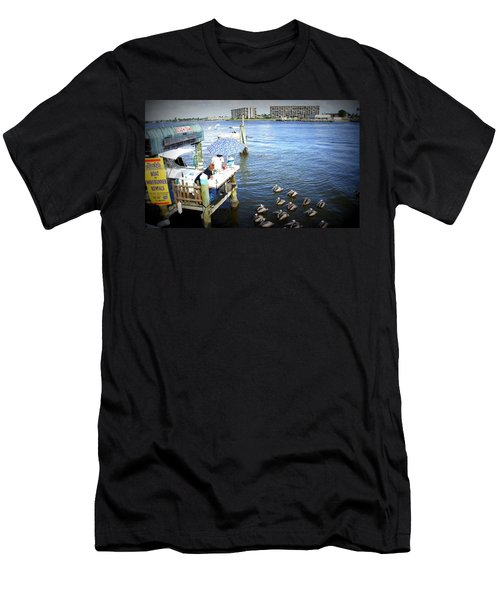 Men's T-Shirt (Slim Fit) featuring the photograph Patiently Waiting by Laurie Perry