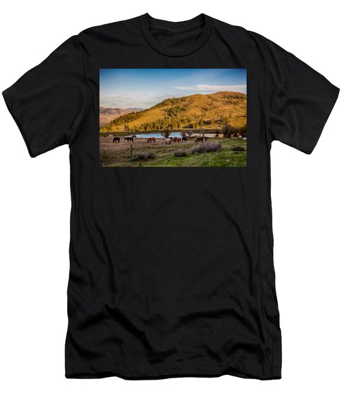 Patterson Mountain Afternoon View Men's T-Shirt (Athletic Fit)