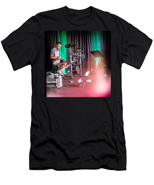 Paul Harvey, Drummer At Grace Men's T-Shirt (Athletic Fit)