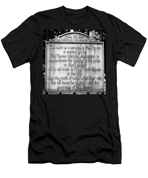 Paul Revere Burial Plaque Boston Massachusetts Men's T-Shirt (Athletic Fit)
