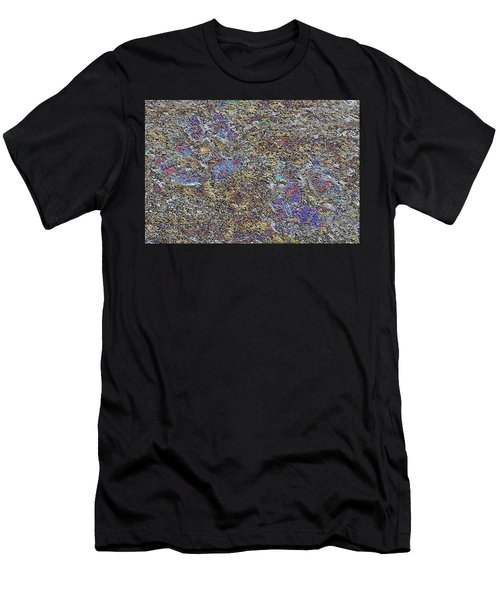 Paw Prints Like Butterflies Fragmented Men's T-Shirt (Athletic Fit)