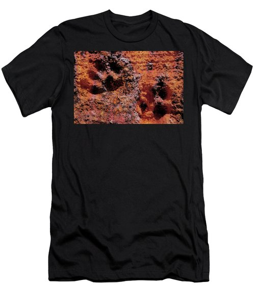 Paw Prints Rust Over Time Men's T-Shirt (Athletic Fit)