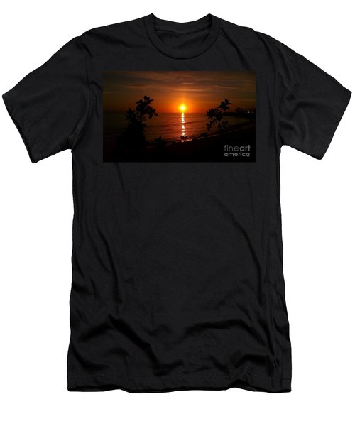 Men's T-Shirt (Slim Fit) featuring the photograph Peace At The Beach by Chris Tarpening
