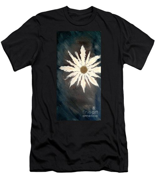 Men's T-Shirt (Slim Fit) featuring the painting Peace Flower by Jacqueline McReynolds