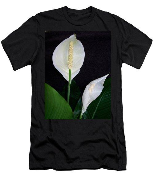 Peace Lilies Men's T-Shirt (Slim Fit) by Sharon Duguay