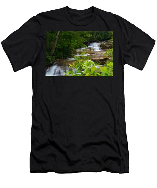 Men's T-Shirt (Slim Fit) featuring the photograph Peaceful Stockbridge Falls  by Dave Files
