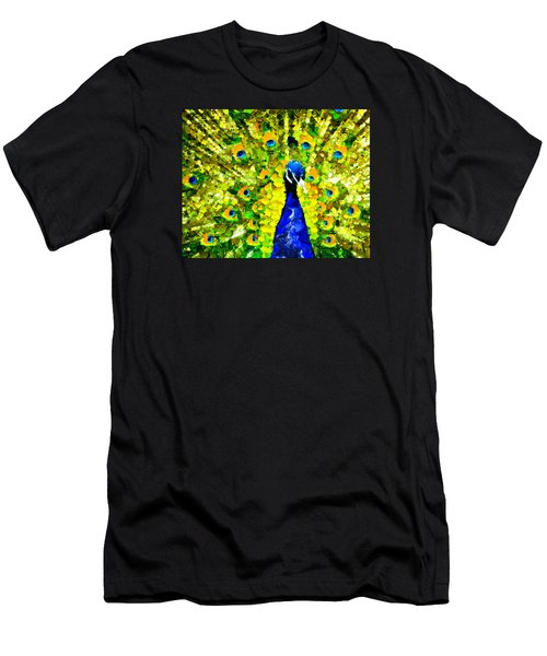 Peacock Abstract Realism Men's T-Shirt (Athletic Fit)