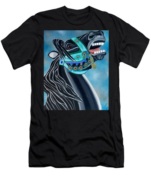Peacock Carousel Horse Men's T-Shirt (Athletic Fit)