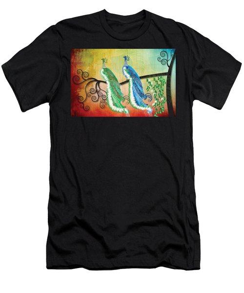 Peacock Love Men's T-Shirt (Athletic Fit)
