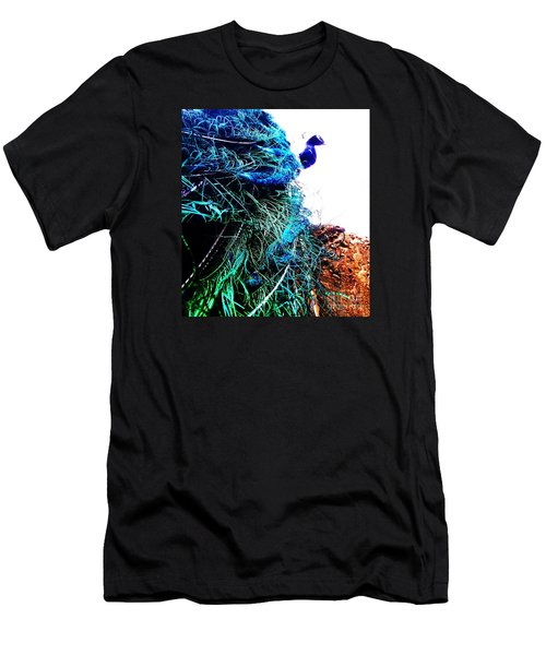 Peacock Portrait Men's T-Shirt (Athletic Fit)