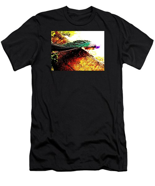 Peacock Tail Men's T-Shirt (Athletic Fit)