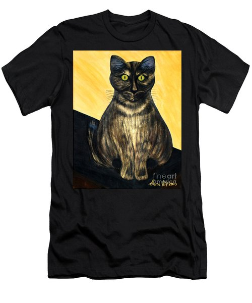 Men's T-Shirt (Slim Fit) featuring the painting Pearl. Soul Collection by Oksana Semenchenko