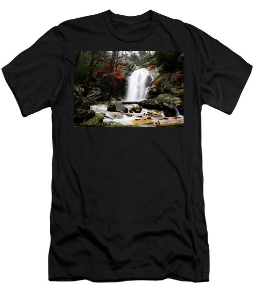 Peavine Falls In Autumn Men's T-Shirt (Slim Fit) by Shelby  Young