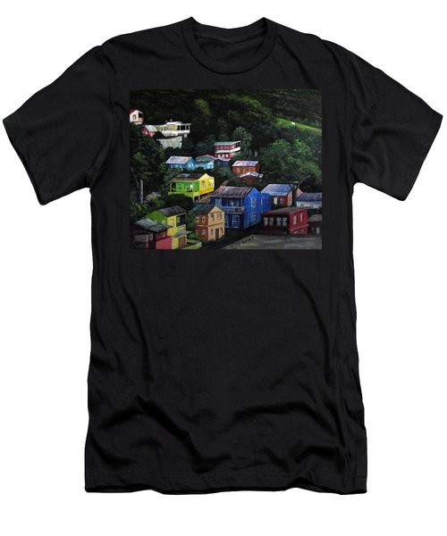 Pedazito De Yauco Cerro Men's T-Shirt (Slim Fit) by Luis F Rodriguez