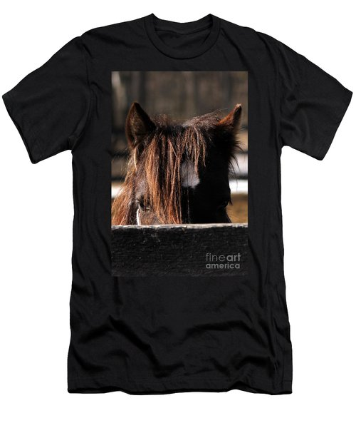 Peek-a-boo Pony Men's T-Shirt (Athletic Fit)