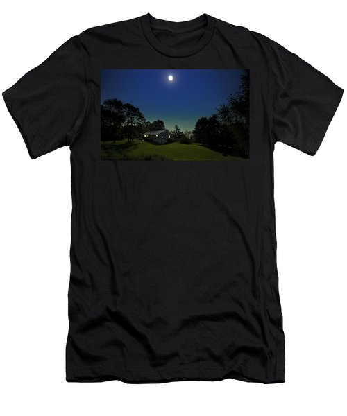 Men's T-Shirt (Slim Fit) featuring the photograph Pegasus And Moon by Greg Reed