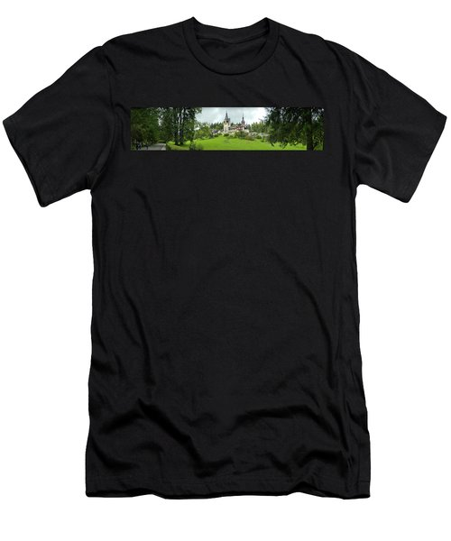 Peles Castle In The Carpathian Men's T-Shirt (Slim Fit) by Panoramic Images