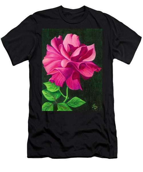 Pencil Rose Men's T-Shirt (Slim Fit) by Janice Dunbar