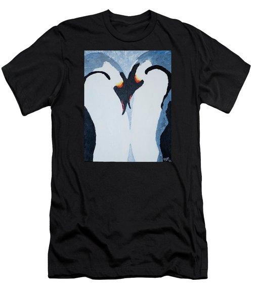 Penguin Love Men's T-Shirt (Athletic Fit)