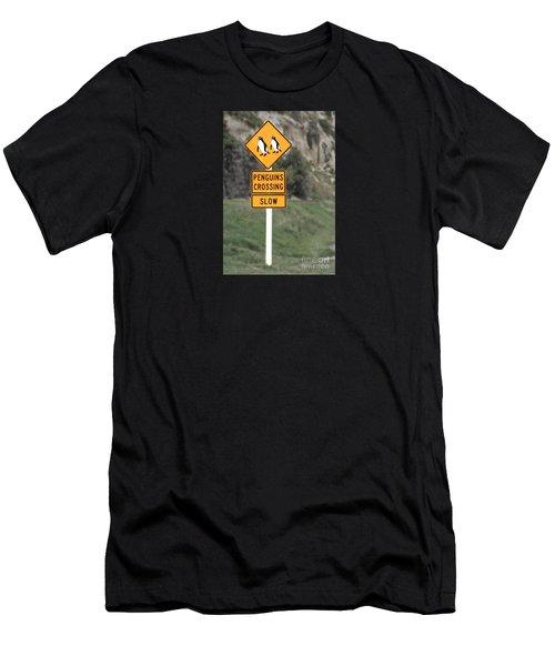 Penguins Crossing Oamaru Men's T-Shirt (Athletic Fit)